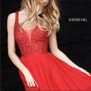Sherri Hill Red Dress/Homecoming/ Formal